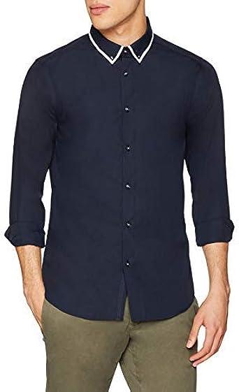 New Look Camisa de Oficina para Hombre