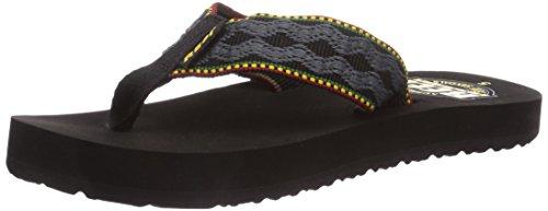 Men's Reef, Smoothy Thong Sandal RASTA 11 M