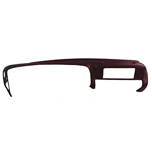 DashSkin Molded Dash Cover Compatible with 97-00 GM SUVs and Pickups in (Ruby Red Overlay)