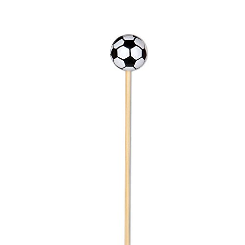 Soccer Appetizer or Sandwich Picks / Swizzle Stick - 4 3/4'' - 100ct by Pick On Us