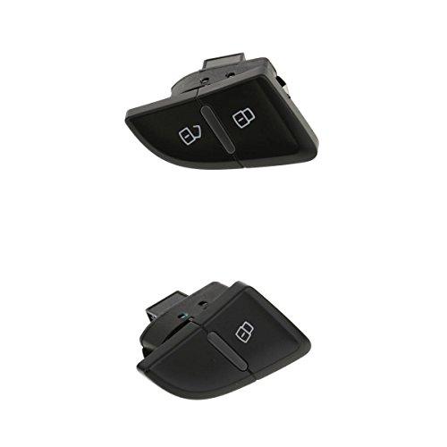 MagiDeal 2pcs Left Power Door Lock Latch Switch Button For Audi A4 A4L B8 Front+Rear 8K0962107A 8K1962107A