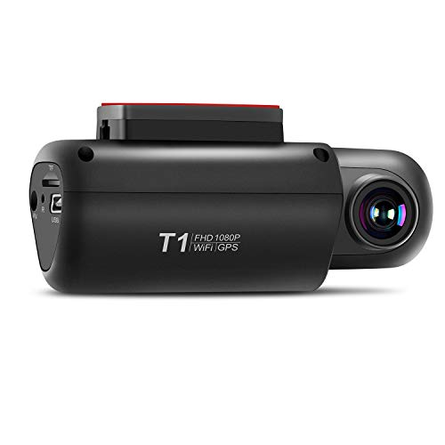 Dash Cam, EACHPAI WiFi Car DVR Dashboard Camera Full HD 1080P No Screen Built-in GPS, Wide Angle, WDR, G-Sensor, Loop Recording and Motion Detection,Night Vision