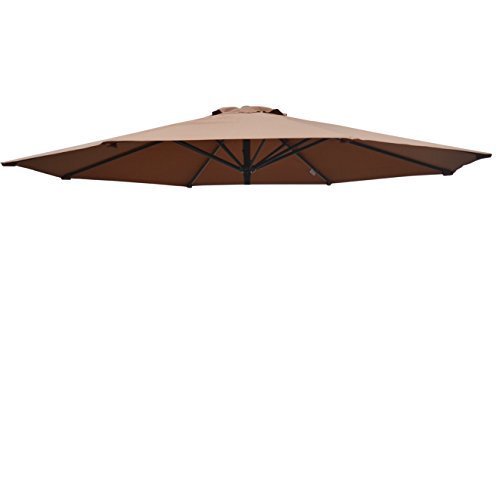 Umbrella Cover Canopy 9ft 8 Rib Patio Replacement Top Outdoor-brown by BenefitUSA
