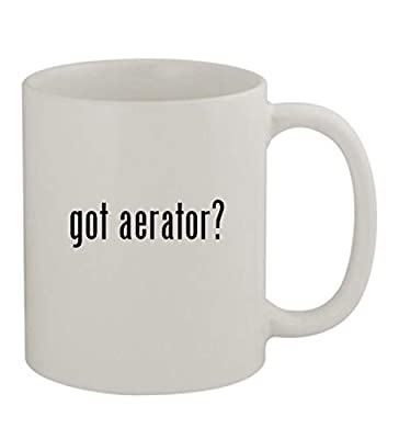 got aerator? - 11oz Sturdy Ceramic Coffee Cup Mug, White