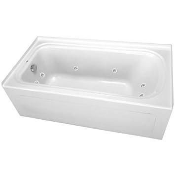 ProFlo PFW6036ALSK 60u0026quot; X 36u0026quot; Alcove 8 Jet Whirlpool Bath Tub With  Skirt,