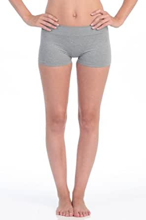 Kurve Heather Wide Band Booty Shorts Women's Heather One Size Fits Most