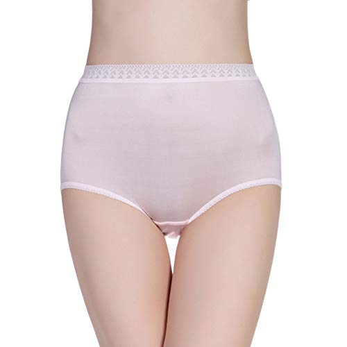 - Forever Angel Women's 100% Silk Knitted High Rise Panties Light Pink Size M