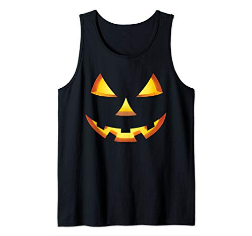 Spooky Halloween Jack-o-lantern Face Costumes Tank Top -