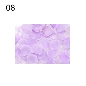 liyhh 100 Pcs Artificial Rose Flower Petals Wedding Party Table Floor Decorations - 8 22
