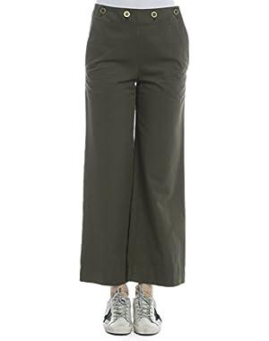 Theory Women's H0104215FJL Green Cotton Pants