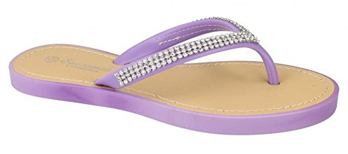 Spot On Womens Synthetic Leather Loafers Shoes 8 Lilac IdjZVP