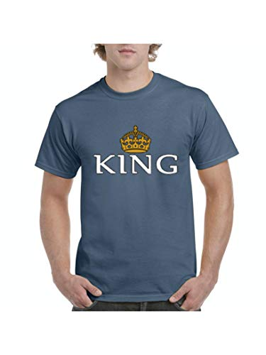 King Crown Men's Short Sleeve T-Shirt (MIB) Indigo -