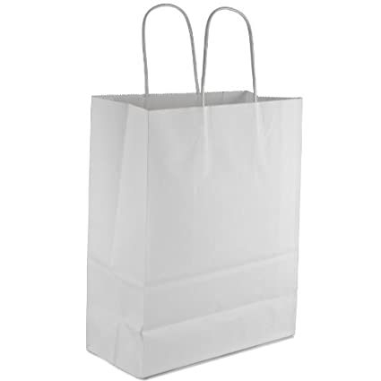 253dc4cb93b Image Unavailable. Image not available for. Color  Royal 10x5x13 quot   Kraft Paper Handle Shopping Gift Merchandise Carry Retail Bags Shopping Bag  (50