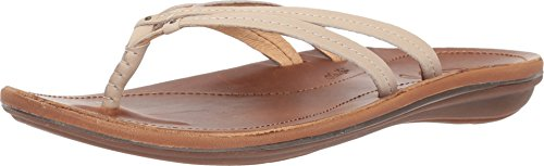 OLUKAI U'i Leather Sandal (Women's) 10 TAPA/Sahara ()