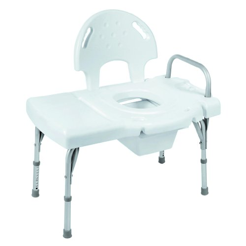 I-Class Heavy-Duty Transfer Bench with Commode Opening [Qty 1 (Single)] (Bathtub Invacare)