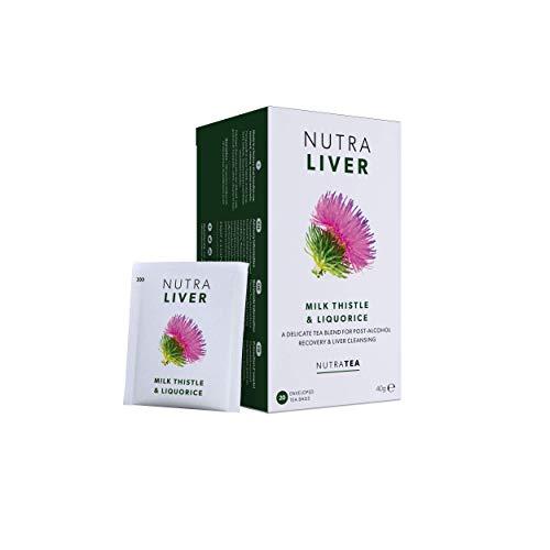 NUTRALIVER – Liver Support Tea   Liver Detox Tea   Hangover Tea – Providing a Liver Cleanse, Detox and Repair – Includes…