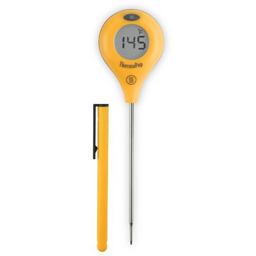 ThermoWorks ThermoPop Super-Fast Thermometer with Backlit Rotating Display (Yellow)