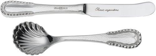 Ricci Merletto 5-Piece Stainless Flatware Hostess Set Ricci Silversmiths 1076
