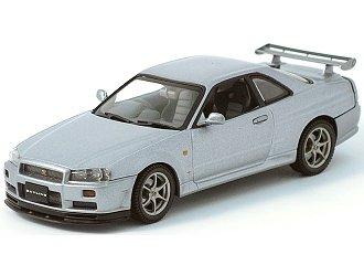 amazon com 1999 nissan skyline gtr r34 diecast car model 1 43