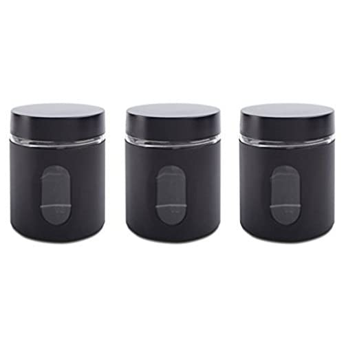 Black And White Kitchen Canisters: Amazon.com