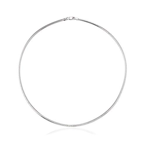 Necklace Omega Personalized (Ross-Simons 2.5mm Sterling Silver Round Omega Necklace)
