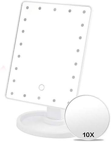 FC2ブログ電池で10倍拡大鏡付きタッチディマースイッチと16/22のLED化粧鏡と鏡を作ります (Color : White