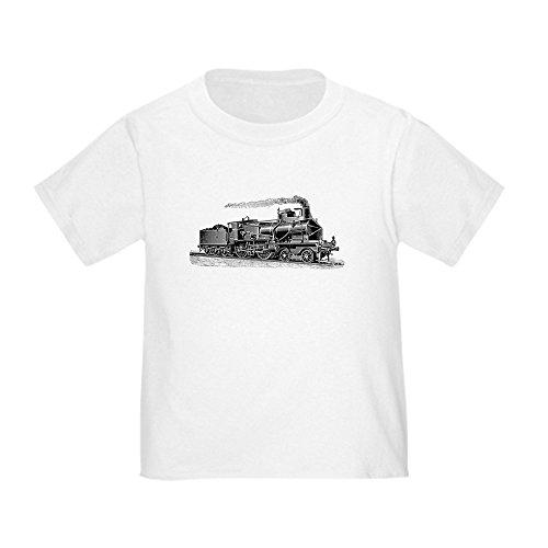 CafePress - VINTAGE TRAINS - Cute Toddler T-Shirt, 100% Cotton White ()