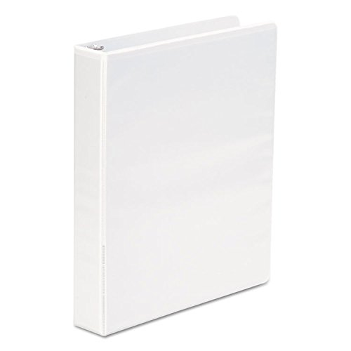 -- Economy Poly Round Ring View Binder, 1 1/2'' Capacity, White, 6/Pack by MOT3