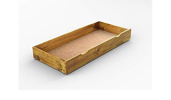 Cajón de madera de pino, para almacenamiento bajo la cama, 150 cm, color roble: Amazon.es: Bricolaje y herramientas