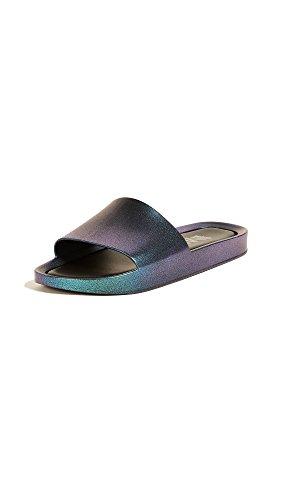 h Slide Shine Sandals, Blue Iridescent, 9 B(M) US (Beach Slide)