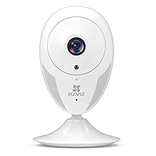 EZVIZ Indoor Wi-Fi Security Camera HD IPC Compatible with Alexa Google Home IFTTT 2.4G WiFi 25ft Night Vision Motion Detection Alert Baby/Pet Monitoring 111° Wide Angle Two-Way Audio White CTQ2C