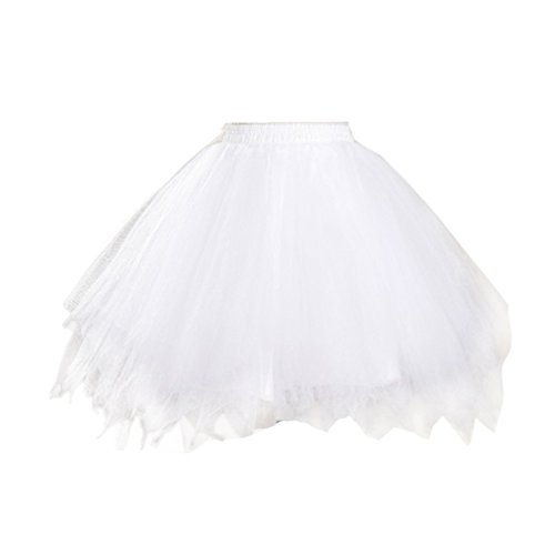 Honeystore Women's Tutu Petticoat Skirt Prom Evening Occasion Accessory White -