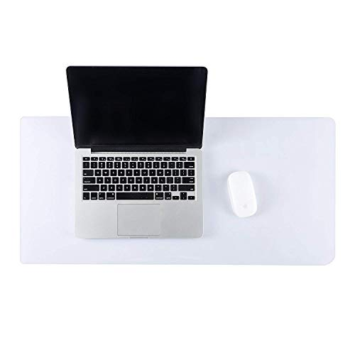 ETECHMART Clear PVC Office Computer Desk Pad Writing Mat (14 x 30 Inches, Clear)