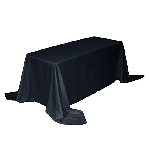 Remedios 90 x 156-inch Rectangle Polyester Tablecloth Table Cover - Wedding Restaurant Party Banquet Decoration, Navy Blue