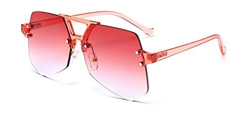 femme Vert Sunglass Rouge Lady Design gradient Gradient Femme Lunettes soleil de Gris Lunettes Rose Fygrend irr¨¦guli¨¨re Brand Oculos B4ZIOOq