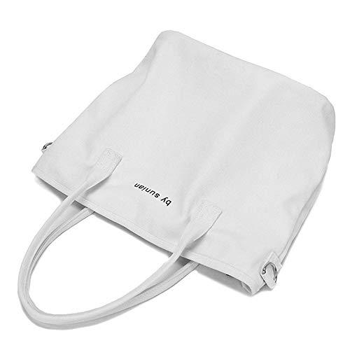 Sac pour White Sac Sac Blanc Wear De Casual À Mode Unique Toile Bandoulière Femme GWQGZ Shopping pwYqIZI