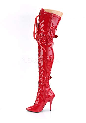 Seduce Patty donna Stivaletti Red 3028 Pleaser nvTAzqwxA