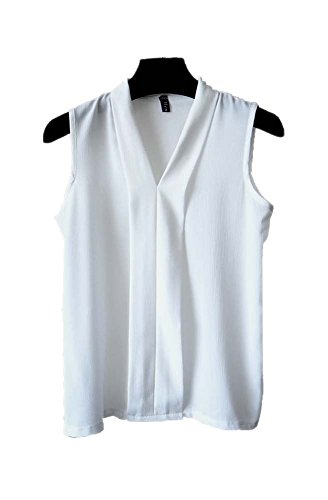 ARJOSA%C2%AE Womens Chiffon Sleeveless Blouse