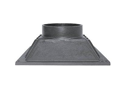 Humo Campana de extracción de humo aire regulación de hierro fundido para horno (Madera de