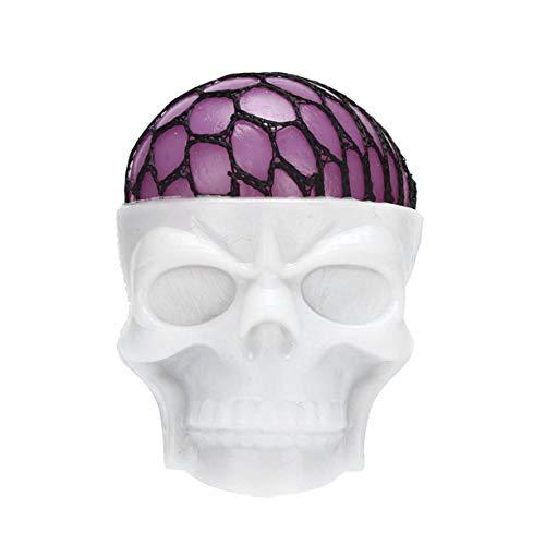 トリックおもちゃ、TPR新しいエキゾチックなトリックおもちゃハロウィンの頭蓋骨のカラフルなブドウのボール