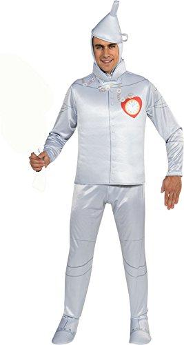 Rubie's 887381 (Medium to 44) Tin Man Adult Costume Silver ()