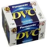 Panasonic AY-DVM60EJ10P MiniDV Cassette Tape (60 Minutes, 10 Pack) by Panasonic