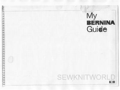 Illustrations Manual Cd - BERNINA 830 Sewing Machine Instruction Manuals on CD/PDF + Adjustment Guide for Bernina 830/831/(832)