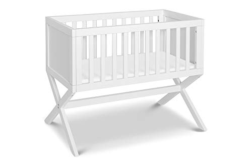 DaVinci Bailey Bassinet with 1 Waterproof Cradle Pad, Converts to Toy Box, White