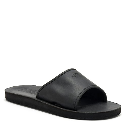 Slider Flip Black Flops Reaper Animal Leather Mens qwp0w6