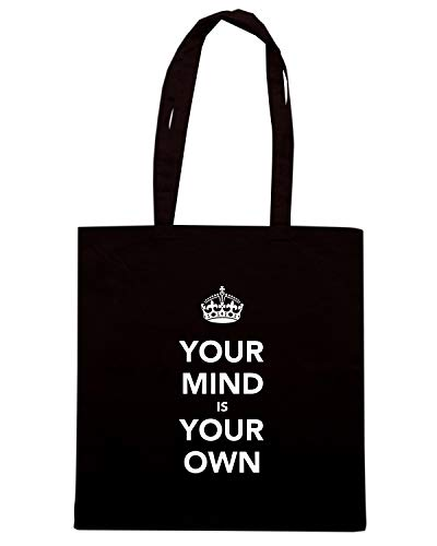 Speed KEEP Shirt YOUR MIND OWN IS AND Borsa TKC4216 CALM Shopper Nera YOUR OR1wOq