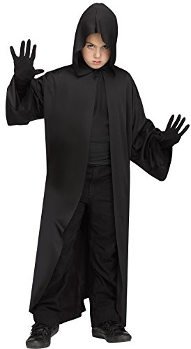 Scary Darth Vader Kids Costumes (UHC Boy's Star Wars Hooded Robe Darth Vader Outfit Kids Halloween Costume (Black))