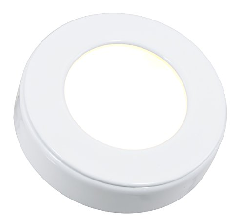 American Lighting OMNI-1-WH Dimmable LED Omni Puck Light, c/UL/us Listed, 12V DC, 3-Watts, 2700K Warm White, 150 Lumens, (American Lighting Puck Light)