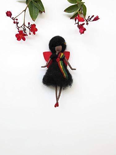 African American Doll for Kwanzaa, Girl Doll Fairy Waldorf