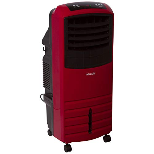NewAir Portable Evaporative Air Cooler with Fan & Humidifier, Indoor Tower Fan in Red, AF-1000R